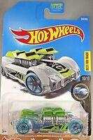 2017 Hot Wheels #344 X-RACERS 10/10 WHAT-4-2 Transparent Light Green w/Blue Whl