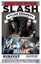 SLASH / MYLES KENNEDY / HESSLER 2013 CHICAGO CONCERT TOUR POSTER - Guns N' Roses
