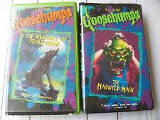 Goosebumps Movies VHS Tape x 2 - Werewolf of Fever Swamp / The Haunted Mask