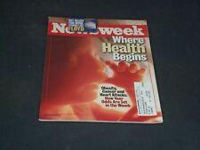 1999 SEPTEMBER 27 NEWSWEEK MAGAZINE - WHERE HEALTH BEGINS - NW 565