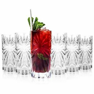 RCR 26277020006 Oasis Crystal Hi-Ball Cocktail Tumblers Glasses, 360ml, Set of 6