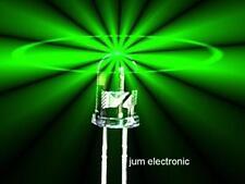 50 PEZZI Diodi/LED/3mm VERDE 4800mcd max./alto standard di fabbricazione