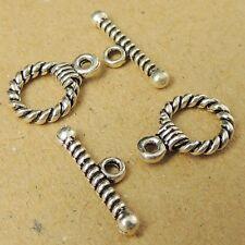 5 Sets 925 Sterling Silver Toggle DIY Jewelry Bracelet/Necklace T-Locks WSP024X5