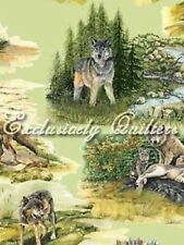 Fat Quarter Wolf Song Cotton Quilting Fabric Exclusively Quilters