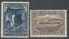 TASMANIA 1899 PICTORIAL 21/2D AND 3D WMK MULTI TAS