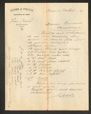 """MANOSQUE (04) CUIRS PEAUX CHIFFONS """"Louis AUBANEL"""" en 1911"""