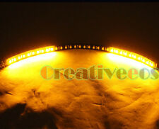 "2x 60CM 24"" Black 48LEDs SMD LED Scanner Strobe Flash Strip Light Amber Yellow"