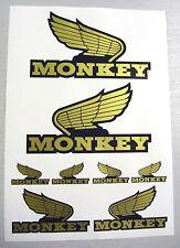 Monkey Bike GOLD 'Wing' style Motor Bike Decal Stickers set