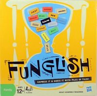 Family Funglish Board Game Word Guessing Educational HASBRO mind thinking new