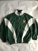 Vintage Neff Bomber Jacket - Green And White - Large - Great Mills Athletics
