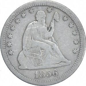 1856 Seated Liberty Quarter - Charles Coin Collection *820