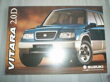 Suzuki Vitara 2.0D brochure Jan 1996