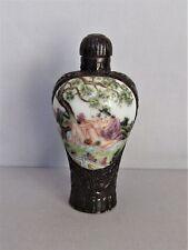 Vintage Erotic Chinese Porcelain Snuff Bottle