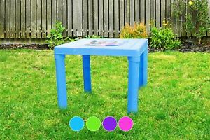 Kids Plastic Table for Indoor & Outdoor Use 49x49x44cm Garden Home Play Table