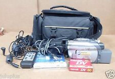 Sony Handycam DCR-DVD305 Camcorder  AC ADAPTER ,CABLE BUDLE ,CASSETTE (BAG)