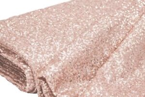 """Fabulous Blush/Rose Gold Spangle/Glitz Sequins 55"""" Sold by Yard"""