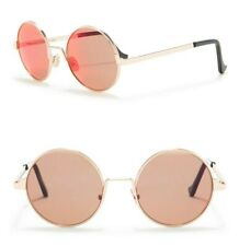 Cutler And Gross 1137/2 49mm Metal Round Sunglasses Gold / Red Mirror Italy Made