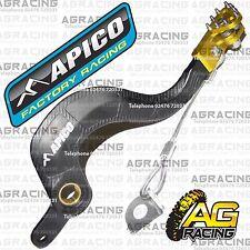Apico Black Yellow Rear Brake Pedal Lever For Suzuki RMZ 250 2014 Motocross New