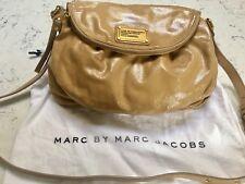 Marc by Marc Jacobs Classic Q Natasha Crossbody Tan Patent Leather Gold Hardware