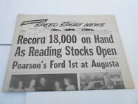 MARCH 19 1969 NATIONAL SPEED & SPORTS NEWS car racing newspaper - AUGUSTA