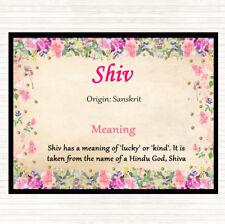 Mouse Mat Pad Shiv nombre significado Floral