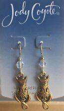 Jody Coyote Earrings JC0634 new made USA 9198 14kt gold plated cat kitten
