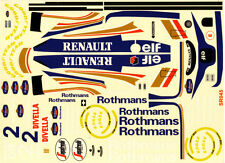 1/10 1994 Williams F1  FW16 Renault Ayrton Senna Decal Sticker for RC Body Model
