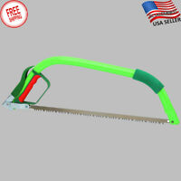 """Wood Saw 21"""" Steel Pruning Trimming Hand Bow Camping Cutting Christmas Tree NEW"""
