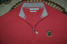 Peter Millar 1/4 Zip Pullover Sweater Golf Shirt Crystal Downs Country Club Xl