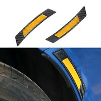 2Pcs Yellow Car Wheel Rim Reflective Protective Sticker Safety Warning Light Hot