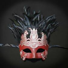 Red & Silver Venetian Hercules Roman Greek Halloween Men Masquerade mask