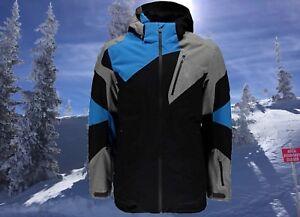 Spyder Mens Leader XL French Blue / Black Waterproof Insulated Ski  Jacket Nwt