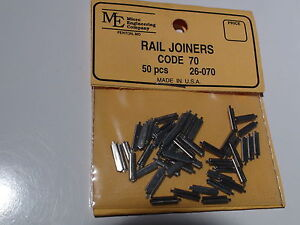 MICRO ENGINEERING #26-070 RAIL JOINERS HO CODE 70 / 50PCS BIGDISCOUNTTRAINS