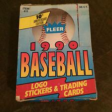 1990 FLEER Baseball Logo Stickers & Trading Cards 10th Anniversay Edition NIB