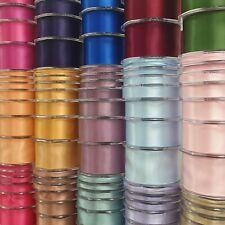10m Double Sided Satin Ribbon Quartz//Pink