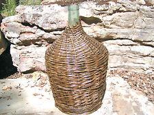 LARGE Wicker wrapped Italian Wine Bottle Vintage Demijohn Jug 0747