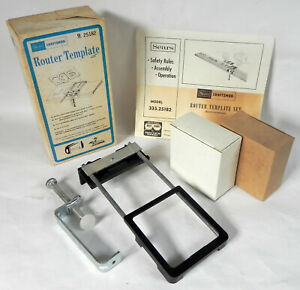"""Sears Craftsman """"Router Template"""" Set #25182, Frame + 40 Letters & Numbers, Exc."""