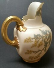 Royal Worcester Porcelain #1094 Blush Ivory Gilded FLAT BACK PITCHER EWER JUG 5""
