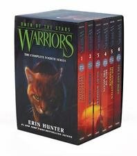 Lot of 6 Erin Hunter Books Warriors Omen Of Stars 1-6 Moon Echoes Whispers Boxed