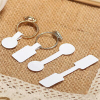 100X/bag Blank Adhesive Sticker Ring Necklace Jewelry Display Price Label Tag JR