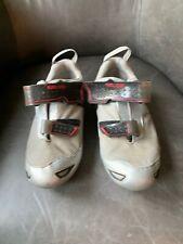 Pearl Izumi  Men's 42 US 9 Silver Black Red Tri Ti Shoes Triathlon Cycling