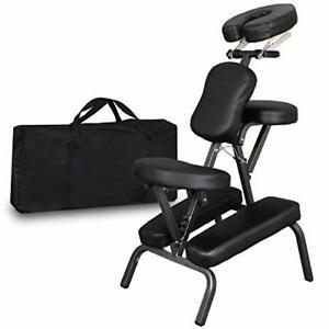Portable Folding PU Leather Pad Travel Tattoo Spa Salon Massage Chair Black