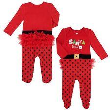 NWT Koala Kids Sz 0-3M Girls SANTA BABY Christmas Holiday Tutu One Piece Romper
