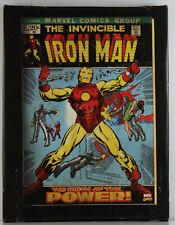 INVINCIBLE IRON MAN - ARTISSIMO MARVEL COMICS CANVAS ART - SIZE 6 1/2 X 8 1/2