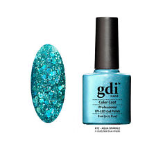 Diamond Glitter Nail GEL Polish by GDI Nails London UV LED Soak 8ml Post K12 - Aqua Sparkle
