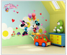 Disney Mickey Minnie Mouse Wall Stickers Art Decals Nursery Baby Kids Room Decor