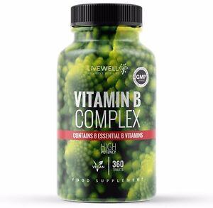 Vitamin B Complex HIGH STRENGTH - B1, B2, B3, B5, B6, B12, Biotin & Folic Acid