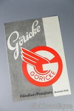 Göricke Fahrräder orig. Preisliste von 1935 po5