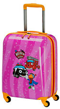 Travelite Helden der Stadt 4Rollen 4 Rad Kinder Trolley Koffer  Pink
