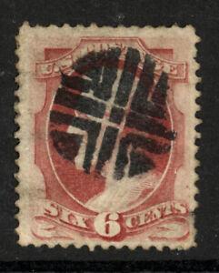 SCOTT 148 1870 6 CENT LINCOLN REGULAR ISSUE USED F-VF CAT $14!